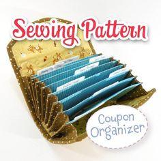 Purse Organizer Sewing Pattern Free | PDF SEWING PATTERN - Coupon / Expense Organizer