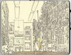 Gorgeous Moleskine Illustrations by Mattias Adolfsson - Neatorama