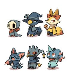 It's been a long time since last time I draw these Pokemon villagers. It's time for some Halloween style villagers!Also update my new blog Luce Into Space!
