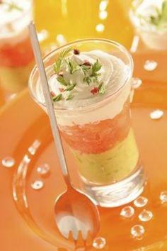 Verrines au samon, recette des verrines au saumon