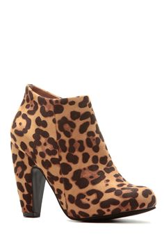 Leopard Print Faux Suede Chunky Ankle Booties @ Cicihot. Booties spell style, so if you want to show what you're made of, pick up a pair. Have fun experimenting with all we have to offer!