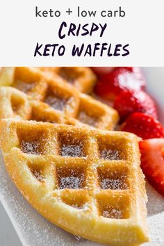 Coconut Flour Waffles, Almond Flour Recipes, Easy Waffle Recipe, Waffle Recipes, Low Calorie Waffle Recipe, Pudding Recipes, Keto Cookies, Sin Gluten, Low Carb Keto