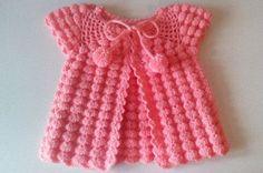 Easy Crochet Baby Dress Beginner Level Crochet Bebe, Crochet Girls, Easy Crochet, Crochet Blanket Tutorial, Crochet Baby Blanket Beginner, Beginner Crochet, Baby Knitting, Baby Girl Dresses, Baby Dress