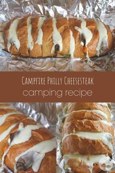 This yummy campfire philly cheesesteak sandwich recipe is perfect for camping! Simply wrap it in a tinfoil packet to make an easy camping meal in minutes. Best Camping Meals, Camping Menu, Camping Ideas, Camp Meals, Backpacking Meals, Camping Cooking, Camping Recipes Lunch, Outdoor Camping, Easy Camping Food