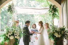 Carriage House Wedding chuppah