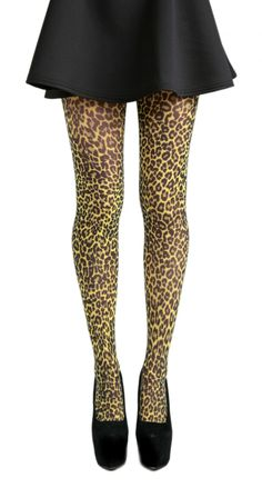 5f2af94094c67 Small Leopard Printed Tights (Flo Yellow) - Pamela Mann Cheetah Print  Clothes, Animal