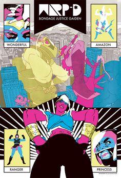 "comicsalliance: ""RON WIMBERLY'S 'WARP-D: BONDAGE JUSTICE GAIDEN' IS THE WONDER WOMAN REDESIGN THE WORLD NEEDS """