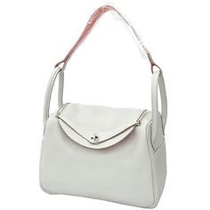 Auth-HERMES-Lindy-30-Shoulder-Bag-Handbag-Gris-Perle-Crevette-Stamp-Q-GR-1747775