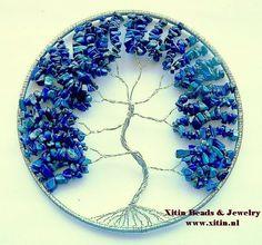 Levensboom Raamhanger Lapis Lazuli | Levensboom Raam Hangers | Xitin Beads & Jewelry