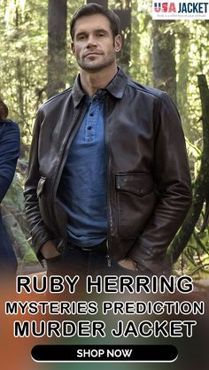 #RubyHerring Mysteries Prediction Murder Jacket Mystery, Weird, Bomber Jacket, The Incredibles, Jackets, Men, Fictional Characters, Down Jackets, Guys