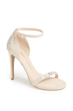 Pretty for prom! Adore the sparkly beadwork that covers this Chinese Laundry sandal.