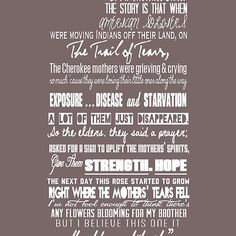 Cherokee Rose Quote by Daryl Dixon in season 2 of the walking dead.. I WANT IT