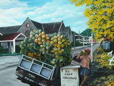 Savannah Coconut Vendor Painting By Karin Kelshall