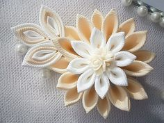 Handmade Kanzashi ladies women large hair by MARIASFLOWERPOWER, £5.50