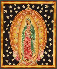 Oferta Virgen de Guadalupe Panel por Tejidosaloloco en Etsy