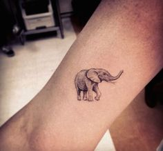 Small elephant tattoo - The sketched effect is making this tattoo more awesome! #TattooModels #tattoo