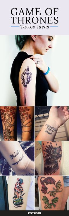 Looking for the right way to display your undying love for Game of Thrones? In case you're considering going the tattoo route, we have some suggestions. Some ink declaring your love for Jon Snow can be as beautiful as it is fierce, so if you're looking for a pretty design, there are plenty of options. Take a look here to see delicate dragons, colorful crows, simple stags, and more!