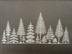 Embroidery Stitches Patterns result for christmas embroidery christmas tree Haus santa claus Crewel Embroidery, Cross Stitch Embroidery, Embroidery Patterns, Embroidery Supplies, Machine Embroidery, Cross Stitch Designs, Cross Stitch Patterns, Christmas Cross, Christmas Tree