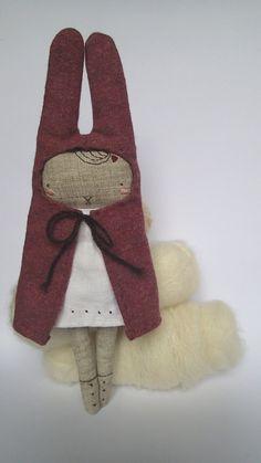 Artistic doll artisan doll home decor handmade rag by Mycuddle