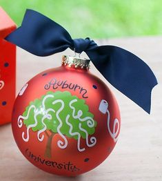 Toomers Corner Auburn Christmas Ornament by doodlebugsga on Etsy Purchase at www.doodlebugsga.etsy.com