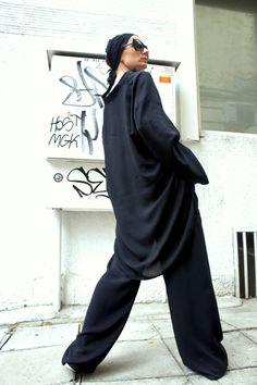Asymmetrical Black Loose Shirt / Oversized shirt от Aakasha