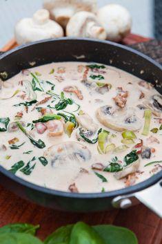 Baconsås Munnar, Bacon, Cheeseburger Chowder, Recipies, Sauces, Food, Salsa, Chef Recipes, Kochen