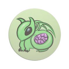 Green Dragon Purple Dragon Egg Coaster - home decor design art diy cyo custom