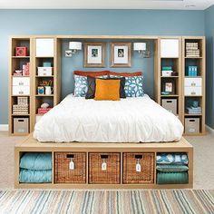 25 tips expedit kasten Kallax Shelving Units come into Master Bedroom Storage.