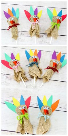 Thanksgiving Turkey Lollipops: Turkey DIY Craft Project