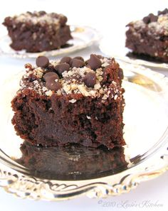 Hazelnut Brownies - Lexie's Kitchen (stevia)