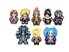 Final Fantasy X Perler Sprites by ShowMeYourBits on Etsy, $2.00