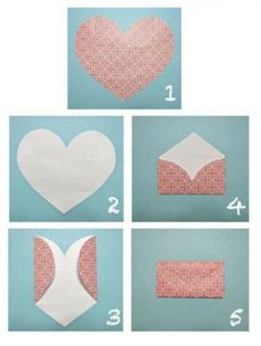 Envelope that opens up to a heart - Image only
