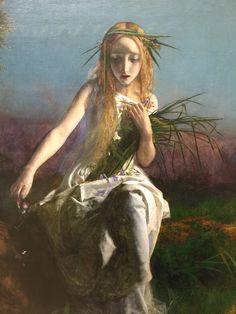 Ophelia (1852) by Arthur Hughes