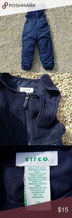 Double layered 3T In Great Condition. This clothing has many features you will appreciate for your 3T.  Navy color, no stain, hole or rip.  It is in a great condition. Circo Bottoms Overalls