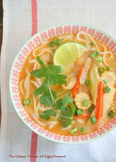 Peanut Curry Noodle Soup