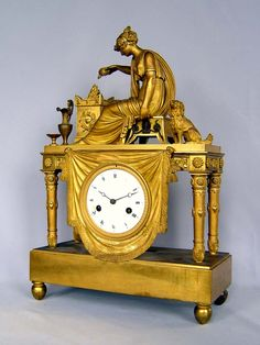 antique french empire clock