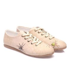 Another great find on #zulily! Beige Spiders Oxford #zulilyfinds