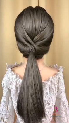Hairdo For Long Hair, Easy Hairstyles For Long Hair, Long Hair Dos, Hair Tutorials For Medium Hair, Hairstyle Tutorials, Hair Style Vedio, Front Hair Styles, Hair Videos, Hair Hacks