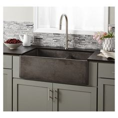 "Native Trails Farmhouse 33"" x 21"" Double Bowl Kitchen Sink & Reviews 