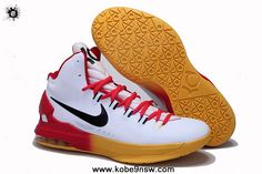 2014 Red Yellow Gradient Nike KD V Sports Shoes Shop