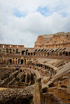 The inside of the Colosseum, Rome, Italy