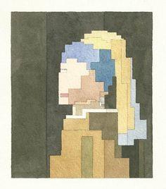 Galeria de Fotos Brinque de adivinhar com as aquarelas pixeladas do artista Adam Lister // Foto 10 // Lifestyle // FFW