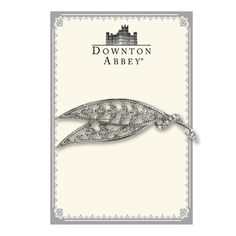 Downton Abbey® Boxed Silver-Tone Crystal Leaf Brooch 17535 *** Check this awesome product by going to the link at the image.-It is an affiliate link to Amazon.