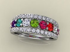 Christopher Michael designed 9 birthstone Mothers Ring