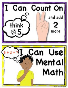 Solving Math Problems {Strategy Posters for Addition} Common Core