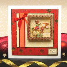 Christmas Cuties by Hunkydory Crafts. Card made using 'Merry Christmas my Deer' topper set. Part of the 2014 Christmas Craftinator Collection