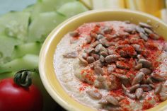 Zucchini and Summer Squash Hummus. Found on The Sweet Life.