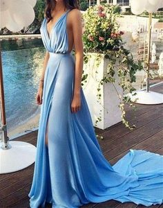 Blue Prom dresses, Casual prom dresses, Backless prom dresses, 2016 Prom sold by bridesmaiddress. Shop more products from bridesmaiddress on Storenvy, the home of independent small businesses all over the world. Prom Dresses 2016, Chiffon Evening Dresses, Backless Prom Dresses, Prom Dresses Blue, Sexy Dresses, Evening Gowns, Beautiful Dresses, Dress Prom, Prom Gowns