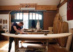 Process of Surfboard Shaping - turned into an  activity table