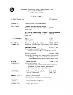 Resume Sample Online Teacher Candidate For Substitute Teaching And Should I
